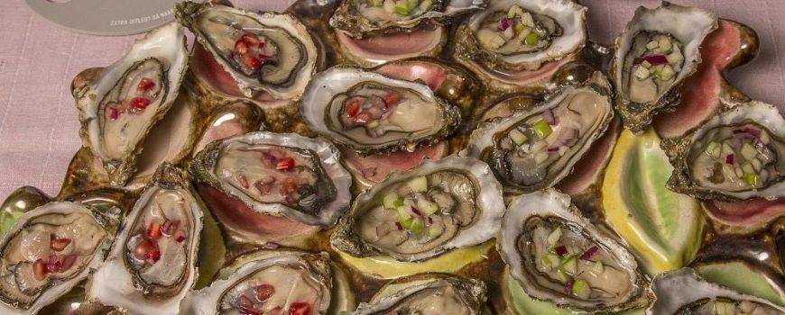 Noorse Vinaigrette oesters puuroesters oestercompagnie